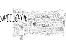 Wheelchair Power With A Lifestyle Word Cloud Royalty Free Stock Photo