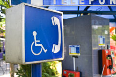 Wheelchair Public Phone Royalty Free Stock Image