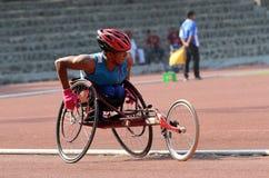 Wheelchair race Royalty Free Stock Photos