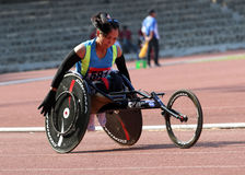 Wheelchair race Royalty Free Stock Image