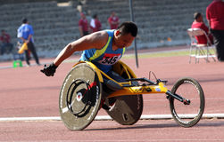 Wheelchair race Royalty Free Stock Photography