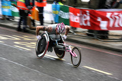 Wheelchair racer royalty free stock images