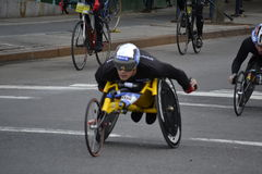 Wheelchair Racer New York City Marathon 2014 Royalty Free Stock Photos