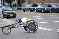 Wheelchair Racer New York City Marathon 2014 Royalty Free Stock Photos