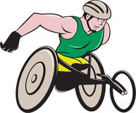Wheelchair Racer Racing  Stock Photography