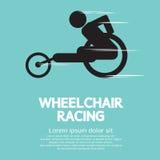Wheelchair Racing. Sign Vector Illustration Royalty Free Stock Photo