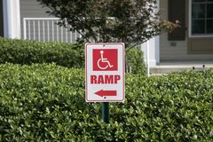 Wheelchair Ramp Royalty Free Stock Image