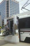 Wheelchair ramp, Santa Clara County transit, Royalty Free Stock Photos