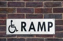Wheelchair ramp sign Royalty Free Stock Photography