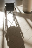 Wheelchair reflections Stock Images