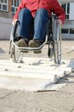 Wheelchair ride practice Stock Photos
