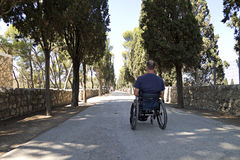 Wheelchair Road Stock Images
