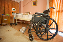 Wheelchair in room Royalty Free Stock Image