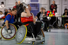 Wheelchair Rugby Royalty Free Stock Images