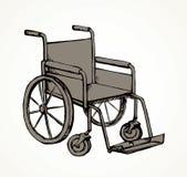 wheelchair rysuje t?a trawy kwiecistego wektora ilustracja wektor