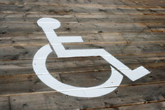 Wheelchair's parking lot Royalty Free Stock Photos