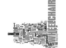 Wheelchair Safety Word Cloud Stock Image