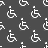 Wheelchair seamless pattern Royalty Free Stock Photography