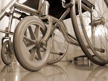 Wheelchair in sepia Stock Photos