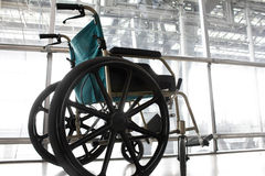 Wheelchair service in airport Stock Photos