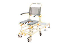 Wheelchair for showering Royalty Free Stock Photography