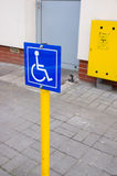 Wheelchair sign Royalty Free Stock Photo