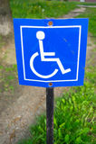Wheelchair sign parking Royalty Free Stock Photography