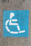 Wheelchair sign at the parking lot Royalty Free Stock Photo