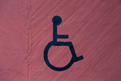 Wheelchair sign Royalty Free Stock Photography