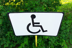 Wheelchair sign Royalty Free Stock Photos