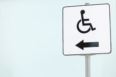 Wheelchair sign symbol. Royalty Free Stock Image