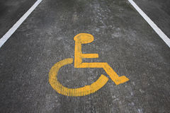 Wheelchair sign or wheelchair lans Stock Photo