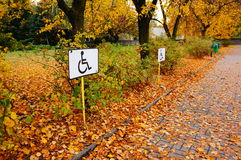 Wheelchair signs Royalty Free Stock Images