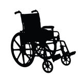 Wheelchair silhouette Royalty Free Stock Photo