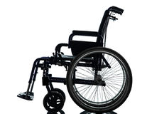 Wheelchair silhouette Stock Photos