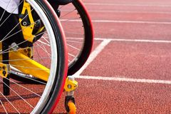 Wheelchair sportsmen Stock Image