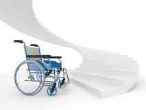 Wheelchair and stairs Stock Images
