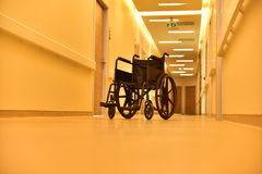 Wheelchair. A standart equipment of hospitals; whellchair Royalty Free Stock Image