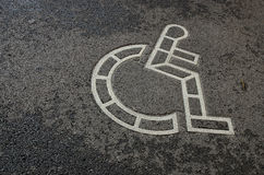 Wheelchair symbol Stock Image
