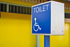Wheelchair Toilet Sign Royalty Free Stock Images