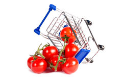Wheelchair and tomato Royalty Free Stock Image