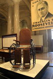 Wheelchair used by Franklin D Roosevelt, on display in Albany Capitol Building,New York,2016 Stock Photography