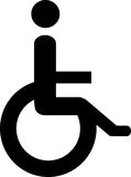 Wheelchair user. Illustration of a wheelchair user Stock Photo