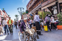 Wheelchair User (Marrakech) Royalty Free Stock Photos