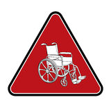 Wheelchair. Vector hand drawn illustration Royalty Free Stock Photography