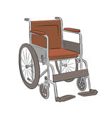 Wheelchair Vector Illustration Royalty Free Stock Photography
