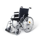 Wheelchair in white back Royalty Free Stock Photo