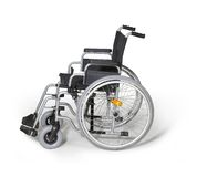 Wheelchair in white back Stock Images