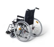 Wheelchair in white back Stock Photo