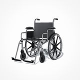 Wheelchair. On white background Royalty Free Stock Images